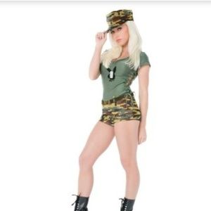 Official Y2K Playboy Boot camp Babe costume new*